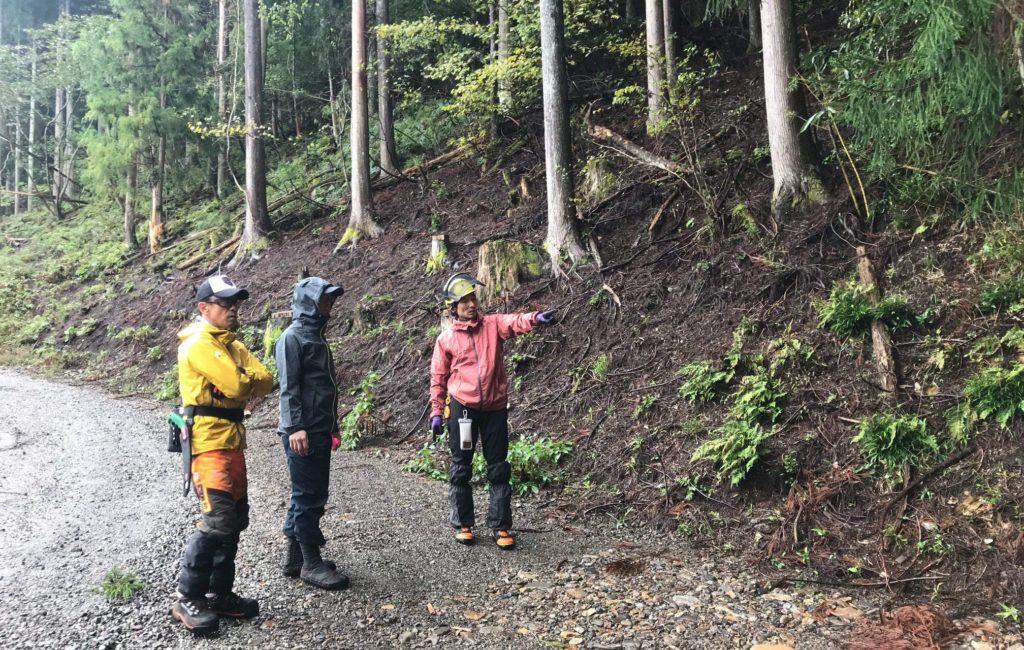 「小さな林道をデザインしよう!」WSを開催
